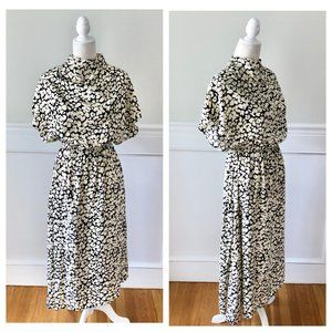 & OTHER STORIES High Neck Midi Dress NWT Floral 4
